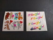 Vintage Stickers Lot Sandylion Love Hearts Animals Mylar Foil Sticker Mods VTG