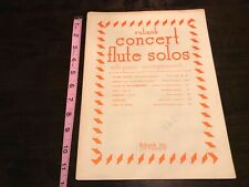 Flute Solos with Piano Accompaniment lot of 2