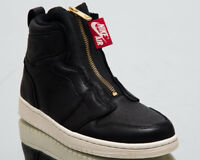 Air Jordan Wmns 1 High Zip Women New Black Sail Red Gold Sneakers AQ3742-016