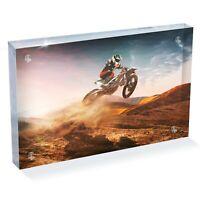 POSTER PRINT PHOTO SPORT ACTION MOTOCROSS JUMP MOTORBIKE YELLOW SUNSET SEB356