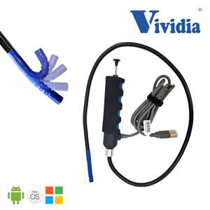 Vividia VA-800 USB Flexible Borescope One-Way 180° Articulating 8.5mm PC Android
