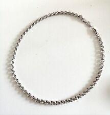 Woman /men's Solid sterling silver belcher chain