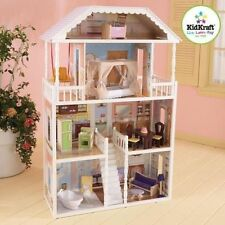 Large Kidkraft 4 Level Savannah Dollhouse With Furniture 65023