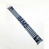 NFL Los Angeles Rams Football Blue & White Knit Scarf