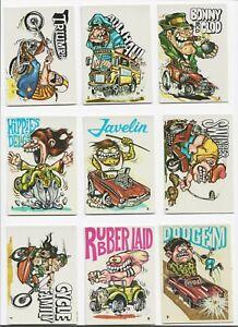 Fabulous Odd Rods set of 66 stickers/cards 1973 excellent/near mint Donruss