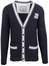 VAN SANTEN & VAN SANTEN Strickjacke Cardigan Größe L 100% Baumwolle Navy Blue