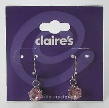 10cd Pink Crystal dangle solitaire Earrings CLAIRE'S FASHION JEWELRY