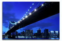 Light up Beautiful Brooklyn Bridge Canvas with LED Lights -  Perfect Gift -