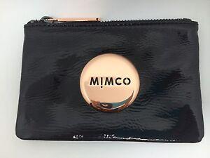 BNWT Mimco Small Mim Patent Black Rose Gold $ Free Express Post$