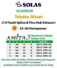 Tohatsu or Nissan 25hp thru 30hp (5211-099-11) Solas Amita 3 Blade Aluminum