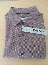 NWT Brand New DKNY Men's Long Sleeve Dress Shirt Size XS Extra Small 100% Cotton