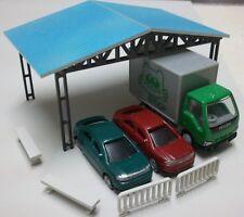 HO scale 1/87 Model Train track Railway layout DIY building ( Carport Kit )