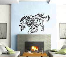 Tiger Flames Power Animal Jungle Mural Wall Art Decor Vinyl Sticker z215