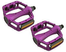 "BMX FIXIE PLATFORM PEDALS VP Alloy Pedals 9/16"" PURPLE with reflectors"