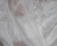 "Sheer Soft Silk ORGANZA Fabric WHITE 54"" Wide -By The Yard-"