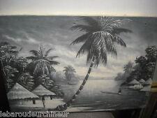ancienne huile sur toile paysage africain signé 2