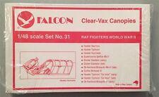 Falcon 1:48 RAF Fighters World War II Clear-Vax Canopy #31