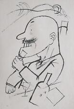 GEORGE GROSZ VINTAGE LITHOGRAPH 1923 ABSOLUT MONARCHIST ECCE HOMO LITHOGRAFIE