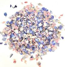 PINK WHITE BLUE Real Throwing Wedding Biodegradable Confetti Petals Half Litre