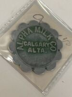 Token Alpha Milk Co. Calgary Alberta Metal Flower Token Coin Vintage Canada P2