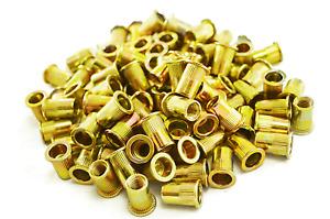 100 Piece Rivet Nut Rivnut M8 Inserts Nutsert Blind Rivets Rivnuts Steel Tool