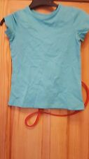 girls turquoise blue t-shirt size 5 years