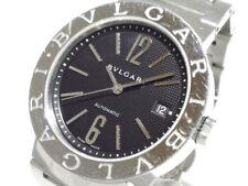 Auth BVLGARI Bvlgari Bvlgari BB38SS Silver, Black L8027 Men's Wrist watch
