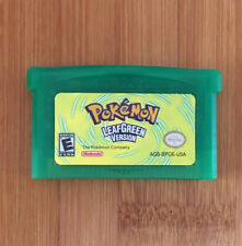 Custom Pokemon Leaf Green Nintendo Game Boy Advance GBA Game Cartridge - New!