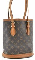 Authentic Louis Vuitton Monogram Bucket PM Shoulder Bag M42238 LV B0135