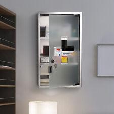 HOMCOM 3 Tiers Stainless Steel Medicine Cabinet Storage Glass Door Lockable