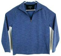 Banana Republic Mens Blue 1/4 Zip Moisture Wicking Pullover Sweater Large EUC