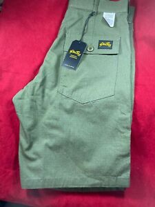 """BNWT STAN RAY, FAT SHORT, Men's Washed Olive, Shorts. Size UK 30"""" W"""