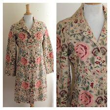 BIYA -JOHNNY WAS -Sz S -AMAZING Art-to-Wear Fully Embroidered Long Jacket Coat