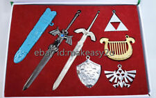 Legend of Zelda Skyward Sword Set 7 Cosplay Metal Necklace Keychain New in Box