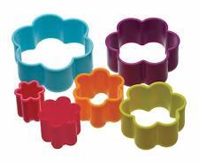 6x Flower Cookie Cutters- KitchenCraft Assorted Size Pastry Children Safe