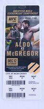 UfC 194 Ticket Stub Conor McGregor vs Jose Aldo, Original, RareVIP.The Notorious