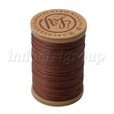 Ramie Leather Sewing Natural Round Waxed Thread Cord 0.7mm Dia Brown