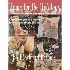 Blackbird Designs Christmas Garden in Home for The Holidays Cross Stitch Bk