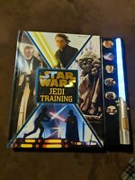 STAR WARS JEDI TRAINING Book, Battery Operated Sound & Light, by Lucasfilm, 2015
