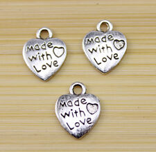 60/150/300 pcs Very cute beautiful heart Tibet silver charm pendant 12x10 mm