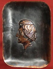 Vintage Copper Plaque Male Head Frederic Chopin
