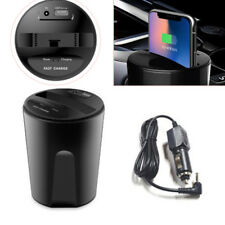 Wireless Cup Style Phone Mount Charger USB Car Charging Dock for Iphone Samsung