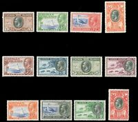 Cayman Islands #85-96 MLH/MHR CV$250.10 1935-36 GEORGE V