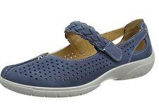 Hotter Womens Quake Mary Jane Leather Shoes Blue UK 3 EU 36 LN14 88