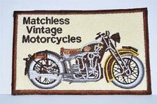 New Embroidered cloth badge -  Matchless Vintage Motorcycles - colectors item
