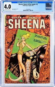 Sheena, Queen of the Jungle #12 (1951) CGC 4.0, Mint Case! Whitman cover!