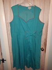 Festive Seafoam Green Lindy Bop Vintage Style Dress Plus Size 26 Rockabilly!