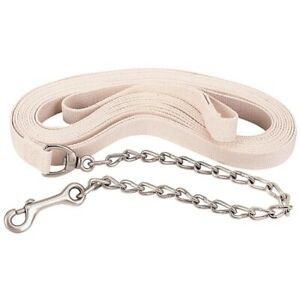 Weaver Flat Cotton Lunge Line with Chain