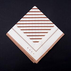 Roda Cocoa Brown and White Printed Cotton Pocket Square NWT