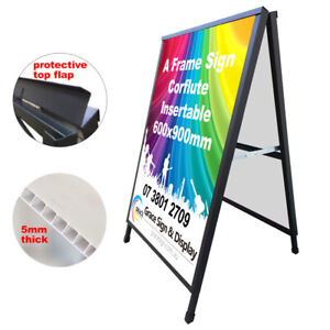 A Frame Sign (Sandwich Board) Corflute Insertable 600x900mm